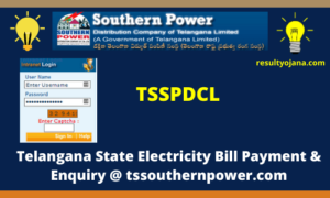 TSSPDCL Telangana State Electricity Bill Payment & Enquiry @ tssouthernpower.com