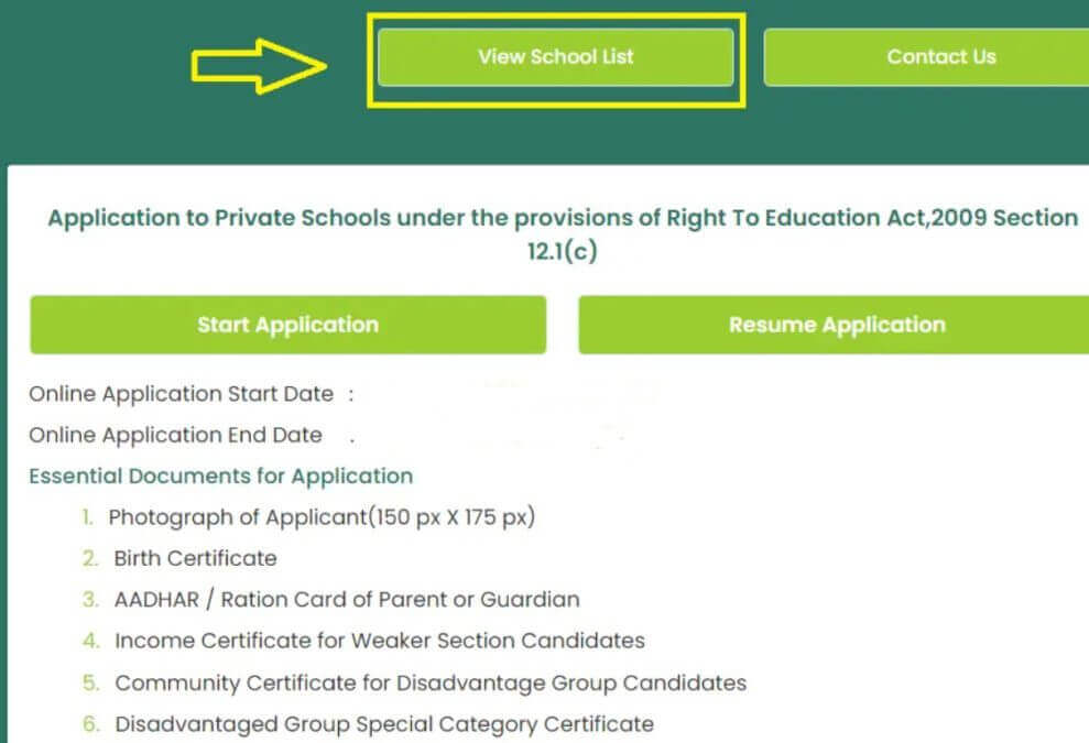 How to Apply for RTE Tamilnadu Admission Online Application at rte.tnschools.gov.in?