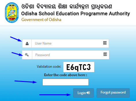 View and Edit Student Record at OSEPA Odisha Extended MIS